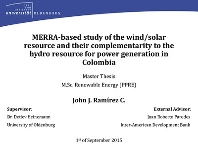 Master thesis on solar energy